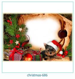 Marco de la foto de la navidad 686