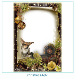Marco de la foto de la navidad 687