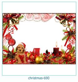 Marco de la foto de la navidad 690