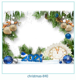Marco de la foto de la navidad 840
