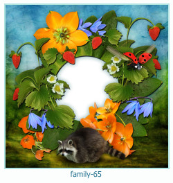 65 Photo frame família