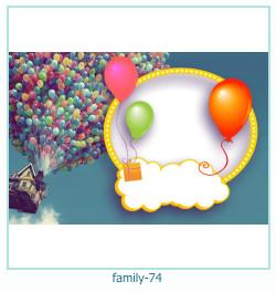 74 Photo frame família