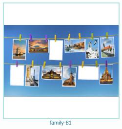 81 Photo frame família