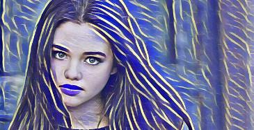 efecto de la foto paint25