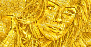 efeito da foto do ouro