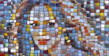 effetto mosaico di foto