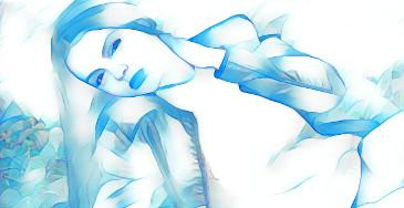 efeito de foto azul da neve