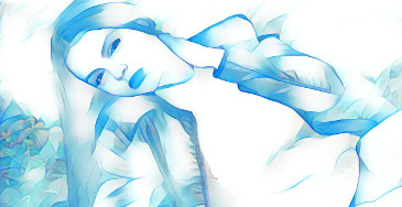 neige bleue effet photo