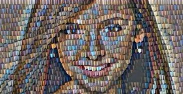 efeito da foto mozaik