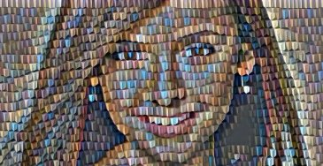 Mozaik фото эффект