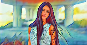 filtragem de fotos, pintura azul