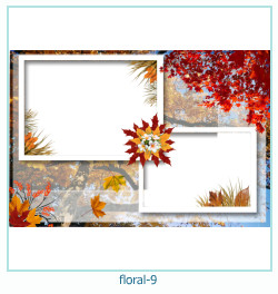 Floral Collages Frames 9