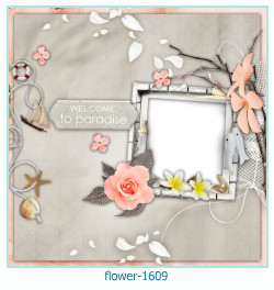 fleur Cadre photo 1609
