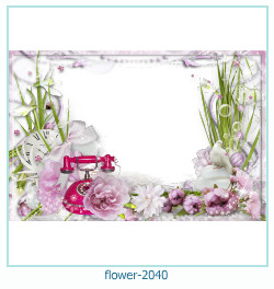 Marco de la foto de la flor 2040