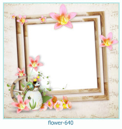 flower Photo frame 640