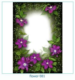 Marco de la foto de la flor 981