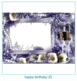 buon compleanno cornici 25