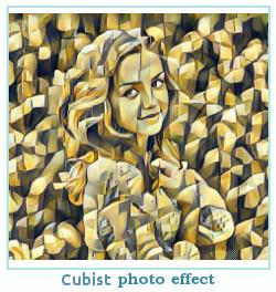 Prisma efecto de la foto cubista
