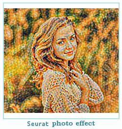 Prisma efecto de la foto Seurat