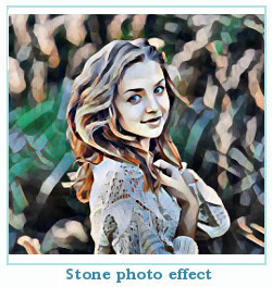 Prisma effet photo pierre