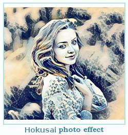 Prisma efecto de la foto Hokusai