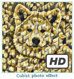 Prisma फोटो प्रभाव Cubist