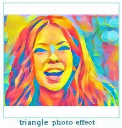 triângulo efeito dreamscope foto