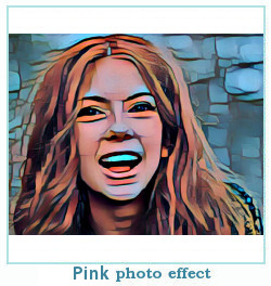efecto de la foto de color rosa dreamscope