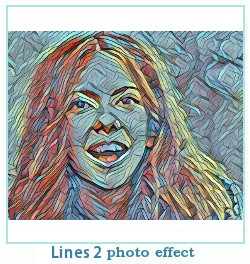 líneas dreamscope efecto de la foto
