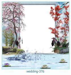 Marco de la foto de la boda 376