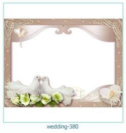 Marco de la foto de la boda 380