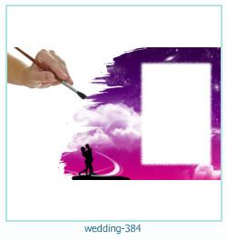Marco de la foto de la boda 384