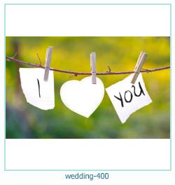 Marco de la foto de la boda 400