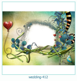 Marco de la foto de la boda 412