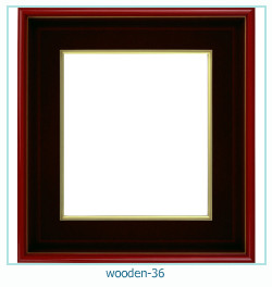 Photo cadre en bois 36